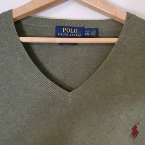 Mens Polo Vneck Sweater